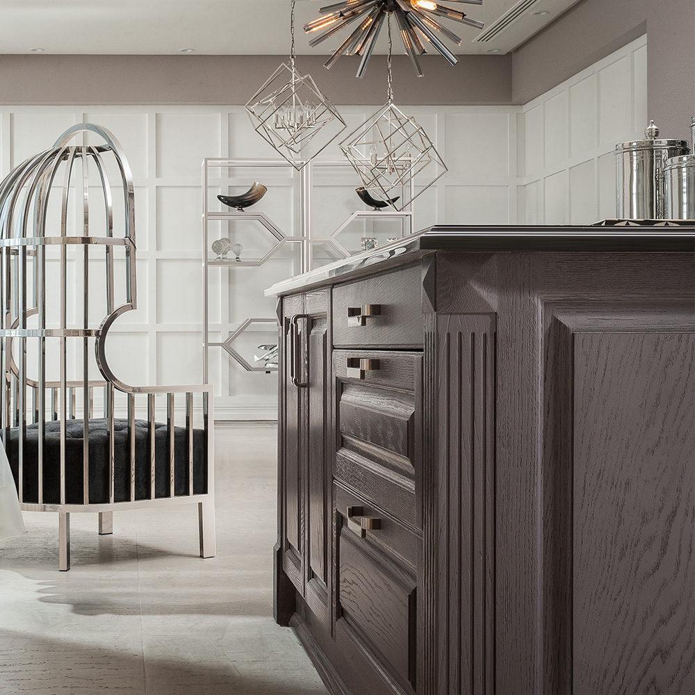 طراحی جزیره نئوکلاسیک آشپزخانه